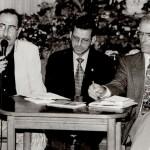 Con M. Trapero y Plácido Checa. 1996. Foto de Tato Gonçalvez.