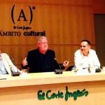 Emilio González Déniz - Con JJ Armas Marcelo y Santiago Gil en el Ámbito Cultural de El Corte Inglés 2014