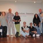 Foto de familia en la inauguración de la exposición Letras Canarias de la Fundación Mapfre Guanarteme (fotografías de Chiqui García)