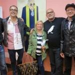 Santiago Gil junto a José Luis Correa, Nieves Abarca, Alexis Ravelo y Emilio González Déniz