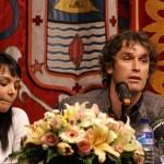 """Con la pintora Graciela Janet en la presentación de """"Alas de metal"""""""