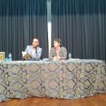 """Durante la presentación de """"Tratado de ornitología"""" con Antonio Jiménez Paz"""