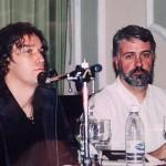 """En la presentación de """"El aire del origen"""" con Eduardo Moga"""