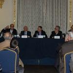 Plácido Checa, Óscar Gutiérrez, Francisco Rubio Royo, José Regidor y Matías Arvelo
