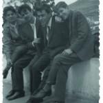 Eugenio Padorno - Con Juan Jiménez, Manuel González Barrera y Juan Caballero, Tenerife 1964