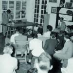Eugenio Padorno - Primera lectura pública de versos, Escuela Luján Pérez de Las Palmas, 1958