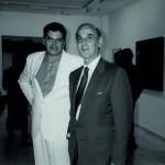 Lázaro Santana - Con Pedro González, Fundación César Manrique, Lanzarote 1992